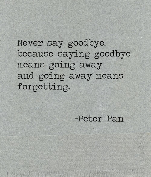 a story we will never say good bye